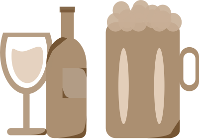 Image of wine and beer